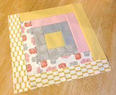 Modern Log Cabin (half prints half solids) | Sassy Quilter