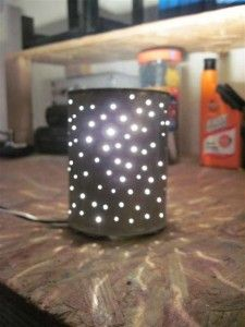 Old coffee cans would make a beautiful lantern. Pick a design, make some holes, add a handle and you're ready to go!