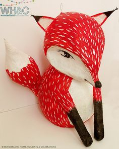 Fox Pinata by wunderlandhome on Etsy, $75.00