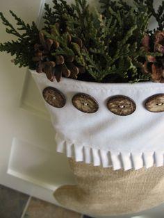 Cozy.Cottage.Cute.: Burlap Stocking Tutorial