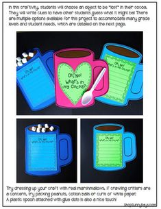 UH, OH! WHAT'S IN MY COCOA? {A WINTER CRAFTIVITY AND WRITING PROJECT} - TeachersPayTeachers.com