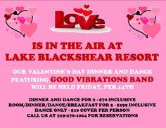 February 14, 2014: Valentine's Day at Lake Blackshear Resort in Cordele, #Georgia.