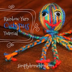 Really simple yarn octopus craft for kids! I used to love to make these as a child.