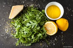 Baby Arugula Salad + Lemon Vinaigrette   @spskillet