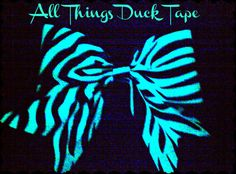 """Duck tape glow in the dark hair bows! """"All Things Duck Tape"""""""