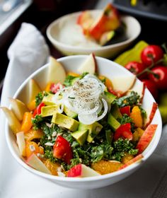 Fully loaded Raw Kale Salad
