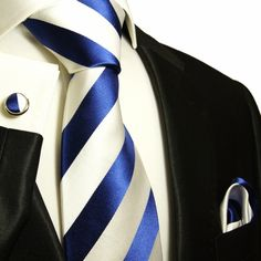 Navy and White Silk Ties, Neck Ties, Neckwear, Tuxedo Vest Sets, Dress Shirts, Suits and more