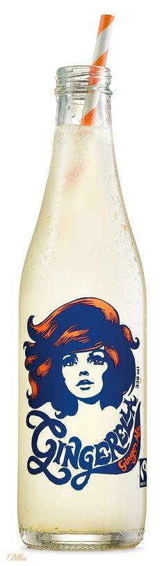gingerella from sri lanka.#amazing#package#design#ging#ale#bottle#art#design