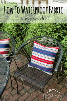 Did you know that making fabric waterproof is as easy as spraying it with a waterproof spray?!