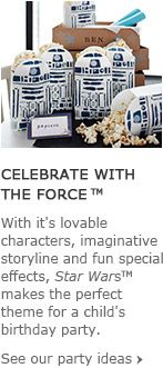Celebrate with The Force™ star wars party on pottery barn kids