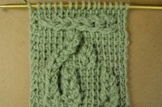 My Tunisian Crochet: Loop Cables