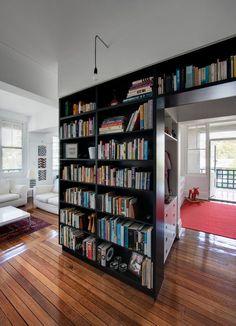 Bookshelf above doorway
