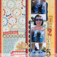 BoBunny Everyday Layouts : Running Scrapbook Page by Juliana Michaels featuring BoBunny Modern Miss #BoBunny @julianamichaels