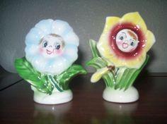 pepper flower, anthropomorph shaker, salti collect, anthropomorph salt, pepper shaker