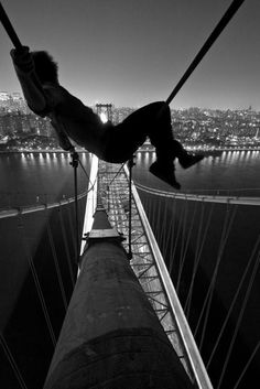 Must be an amazing feeling! Up in the sky/bridge!