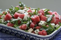 This is very good. >Watermelon, Arugula, and Herbed Feta Salad< - Pots and Pans