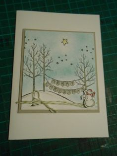 White Christmaswww.stampingwithlinda.com Check out my Stamp of the Month Kit Program Linda Bauwin – CARD-iologist Helping you create cards from the heart.