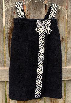 Zebra towel wrap