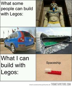 Things I can build with Legos…
