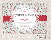 DIY Custom Printable VINTAGE CHIC Bridal Shower Invitation / Baby Shower Invitation Card. $15.00, via Etsy.