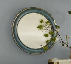 Antiqued Painted Round Mirror   Pottery Barn