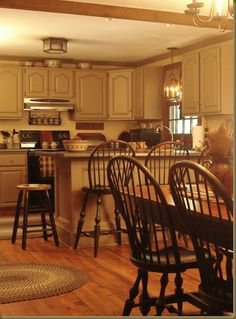 decorating kitchen, coloni kitchen, countri kitchen, cabinet, country kitchens, windsor chairs, primit kitchen, kitchen designs, dream kitchens
