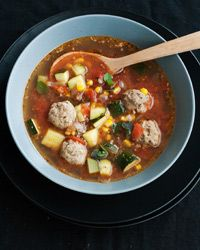 Mexican Meatball Soup Recipe on Food & Wine