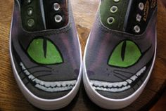 cheshire cat sneakers. $55.00, via etsy.