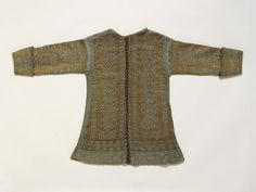 Knitted Jacket made in Italy 1600-1620, silk and silver