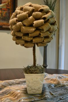 Burlap Topiary Tutorial | Home and Lifestyle Design
