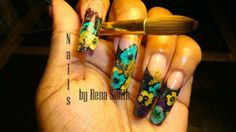 Embedded dried flowers on acrylic nails #nailprodigy #nailart acryl nail, nail nailprodigi, haut nail, dried flowers, dri flower, nailprodigi nailart