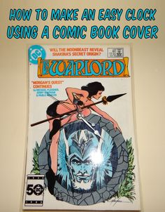 Comic book cover clock #geek #geekcraft #comicbooks