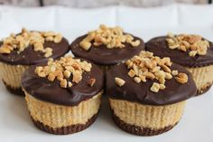 In the Pink and Green: Mini Chocolate Peanut Butter Cheesecakes