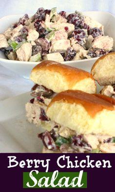 Chicken Berry Salad on MyRecipeMagic.com #chicken #salad