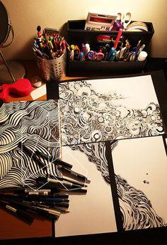 sketchbook art...the desk though