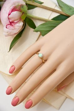 c. 1900 14K Gold Opal Ring