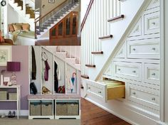 storage under staircases...im partial to the wine closet idea myself!