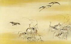 Kano Tansetsu, Ducks Amid Reeds or Descending, Early Edo period, circa 1681, Harvard Art Museums/Arthur M. Sackler Museum.