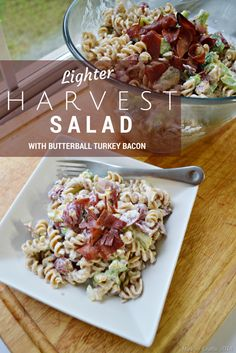 Lighter Harvest Pasta Salad Recipe - Mad in Crafts