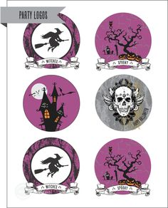 Free printable Halloween party decorations #halloween #printables