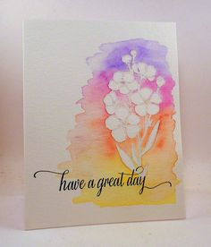 You and Your Big Dreams: Embossing and Water Coloring Love