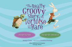 """FREE ebook app (reg 1.99) The Really Groovy Story of the Tortoise and the Hare 7/18/14 """"Kids will love to move and groove with this dynamic duo as they hop and pop towards the finish line in this hip-hopping retelling of the classic tale."""""""