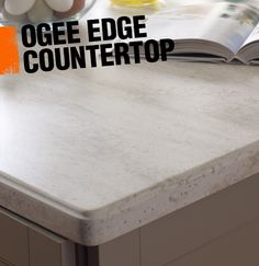 An ogee edge countertop has a bit more flourish than some of the other edge options, as it combines a convex curve and a concave curve to create an S-shaped edge.