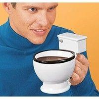 Haha!  So awesome.  Toilet-shaped coffee mug.  This makes xmas shopping a lot easier!