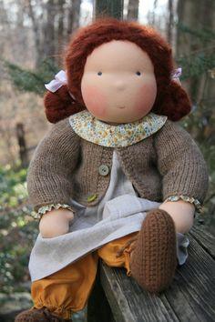Doll dress - sweater idea