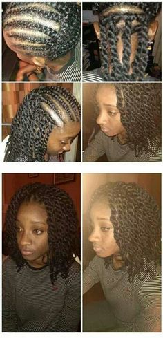 Follow me for more gorgeous pins! Crocheted Marley twists. Thick luscious locks of black hair. Natural women.