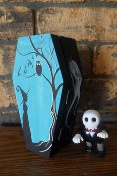 Wood Halloween Coffin Box