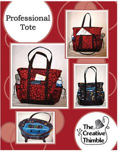 Pattern Professional Tote by GabbysQuiltSupplies on Etsy,#crafts#sewing#quilting