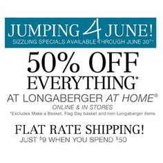 Longaberger At Home Sale