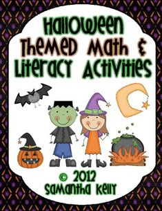 Your kids will love these fun, Halloween themed Math and Literacy Centers! Great for grades 1, 2, or 3! $$$